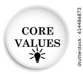 core values icon. core values... | Shutterstock . vector #614486873