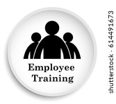 employee training icon.... | Shutterstock . vector #614491673