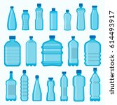 Plastic Bottles Vector Isolate...