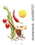 mediterranean food   drink... | Shutterstock . vector #614500727