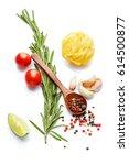 mediterranean food   drink... | Shutterstock . vector #614500877