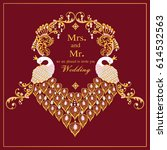 vintage invitation and wedding... | Shutterstock .eps vector #614532563