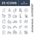 set  line icons with open path... | Shutterstock . vector #614538587