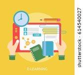 e learning conceptual design | Shutterstock .eps vector #614540027