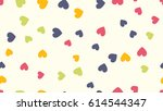 seamless hearts pattern. vector ... | Shutterstock .eps vector #614544347