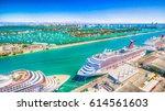 miami   february 27  2015  port ... | Shutterstock . vector #614561603