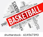 basketball word cloud collage ... | Shutterstock .eps vector #614567393