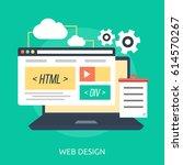 web design conceptual design | Shutterstock .eps vector #614570267