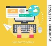 wiki encyclopedia conceptual... | Shutterstock .eps vector #614570273