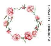 Watercolor Romantic Wreath Of...