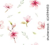 watercolor seamless wallpaper... | Shutterstock . vector #614594453