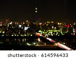 blur city light background