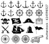 vintage nautical or marine ... | Shutterstock .eps vector #614598527