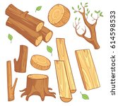 cartoon wooden materials ...