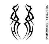 tribal tattoo art designs.... | Shutterstock .eps vector #614607407