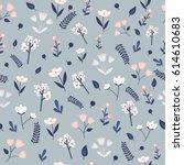vector pastel seamless pattern... | Shutterstock .eps vector #614610683