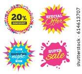 sale splash banner  special... | Shutterstock .eps vector #614613707