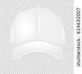 white baseball cap  | Shutterstock . vector #614632007