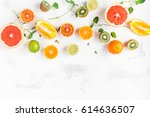 fruit background. colorful...   Shutterstock . vector #614636507