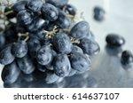 black grapes   Shutterstock . vector #614637107