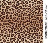 leopard seamless pattern ... | Shutterstock . vector #614645267