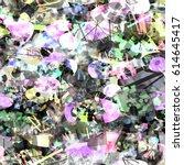 grunge seamless background.... | Shutterstock .eps vector #614645417