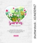 summer holidays card template....   Shutterstock .eps vector #614650967