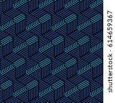 blue and black geometric... | Shutterstock .eps vector #614659367
