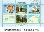 ukraine   circa 2017  a postage ... | Shutterstock . vector #614661743