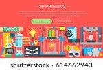human organs 3d printer... | Shutterstock .eps vector #614662943