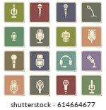 microphone vector icons for... | Shutterstock .eps vector #614664677