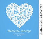 medical icons heart concept ... | Shutterstock .eps vector #614665727