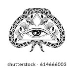 hand drawn illustration with... | Shutterstock .eps vector #614666003