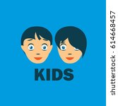 vector logo kids | Shutterstock .eps vector #614668457