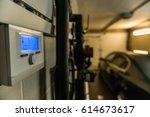central heating unit | Shutterstock . vector #614673617