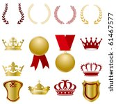 gold and red ornaments set.... | Shutterstock .eps vector #61467577