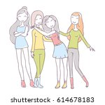 vector illustration of group of ... | Shutterstock .eps vector #614678183