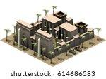 isometric buildings of ancient... | Shutterstock . vector #614686583