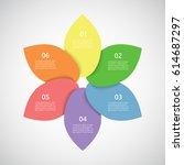 template for diagram  graph ... | Shutterstock .eps vector #614687297