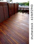 Wood Floor Terrace With Wooden...