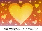 light multicolor vector heart...   Shutterstock .eps vector #614693027