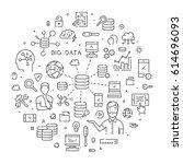 round line banner for big data. ... | Shutterstock .eps vector #614696093