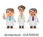 doctors team experienced fat... | Shutterstock .eps vector #614705033