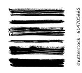 black vector brush strokes of... | Shutterstock .eps vector #614705663
