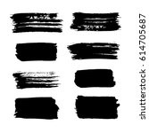 black vector brush strokes of... | Shutterstock .eps vector #614705687