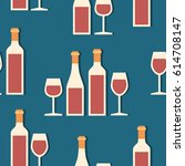 seamless pattern  pack paper... | Shutterstock .eps vector #614708147