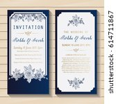 luxury wedding invitation card... | Shutterstock .eps vector #614711867