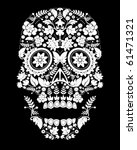day of the dead skull | Shutterstock .eps vector #61471321