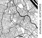 vienna austria vector map... | Shutterstock .eps vector #614714453