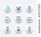 mobile  desktop apps icons set  ...